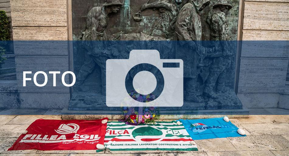 Le immagini della commemorazione delle vittime sul lavoro in occasione della celebrazione della Giornata mondiale per la sicurezza sul lavoro