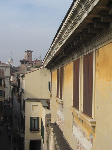 Palazzo Dondi dall'Orologio, Padova. Scorcio esterno dell'edificio.