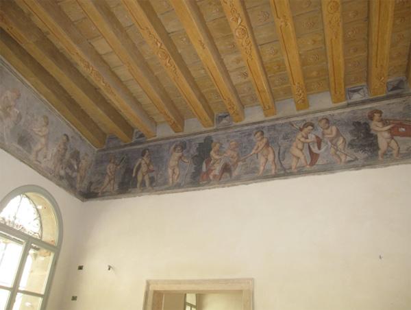 Palazzo Dondi dall'Orologio, Padova. Immagine del soffitto.