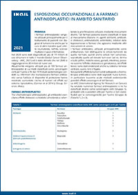 Immagine Esposizione occupazionale a farmaci antineoplastici in ambito sanitarioa