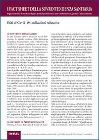 Immagine Esiti di Covid-19: indicazioni valutative