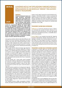 """Immagine Lavoro agile in situazioni emergenziali -  Applicazione di un modello """"ibrido"""" tra lavoro agile e telelavoro"""