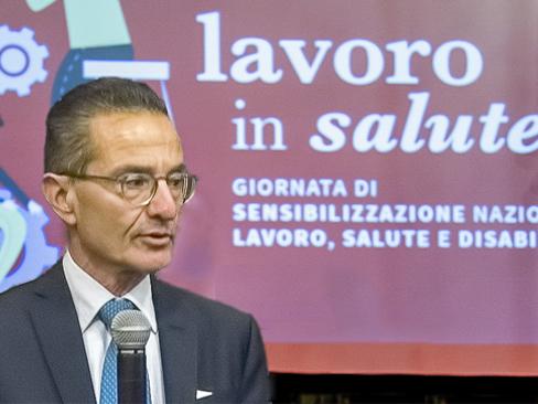 Il direttore generale dell'Inail Giuseppe Lucibello al convegno di PreSa