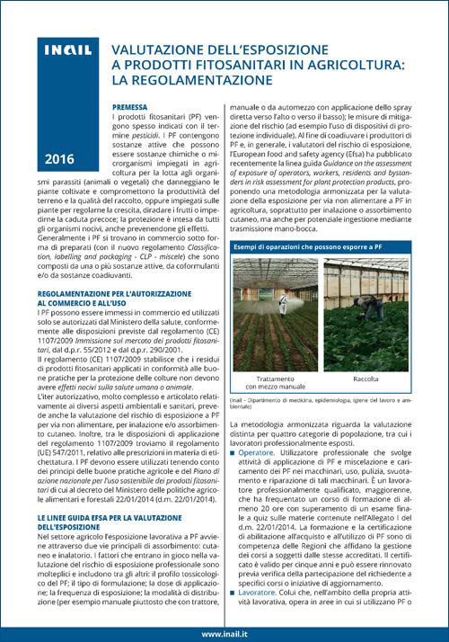 Immagine Valutazione dell'esposizione a prodotti fitosanitari in agricoltura: La regolamentazione