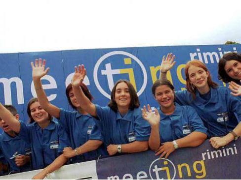 Giovani partecipanti al Meeting di Rimini