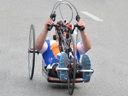 Immagine  handbike del Centro Protesi Inail