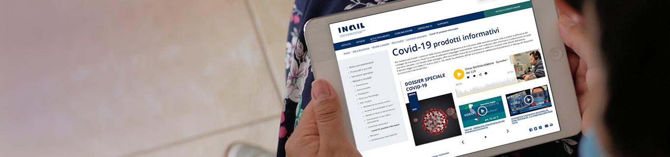 Covid-19: prodotti informativi