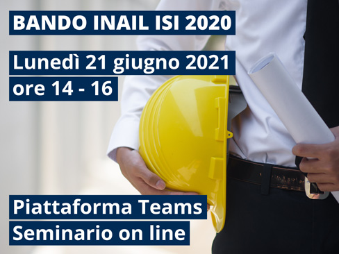 La Direzione regionale Inail del Piemonte organizza un webinar per il 21 giugno sugli incentivi previsti dal Bando Isi 2020