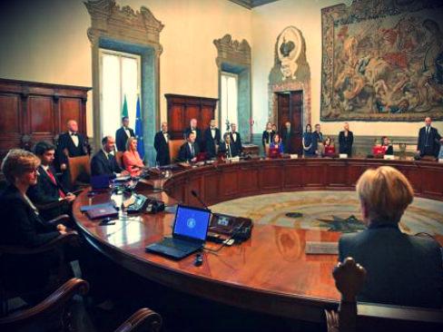 Consiglio dei ministri a Palazzo Chigi