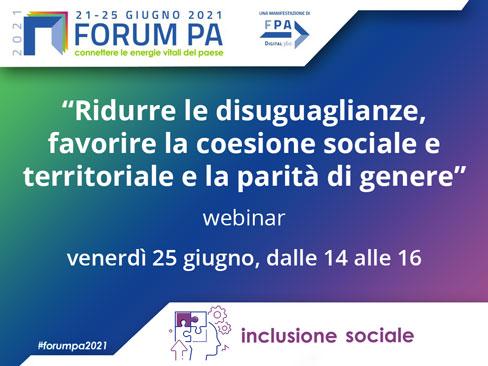 Immagine Ridurre le disuguaglianze, favorire la coesione sociale e territoriale