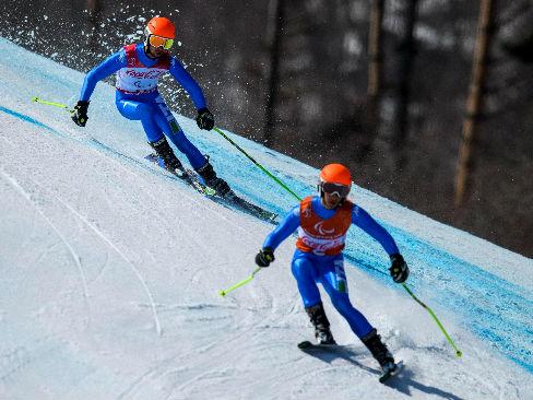 La coppia dello sci alpino Bertagnolli-Casal protagonista alle Paralimpiadi di PyeongChan