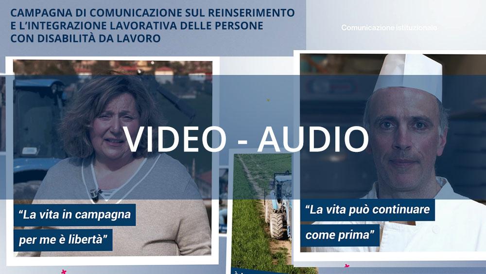Gli spot della nuova Campagna di comunicazione sul reinserimento lavorativo