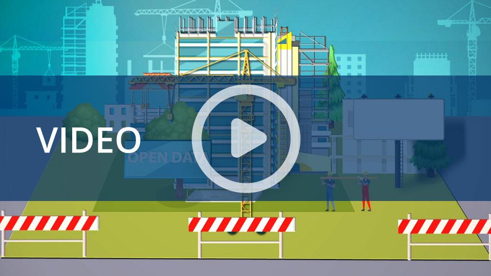 Dati Inail: l'infografica animata del settore costruzioni
