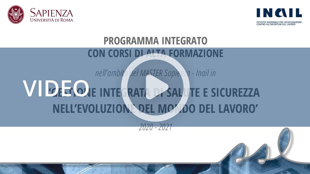 Master Sapienza-Inail 2021