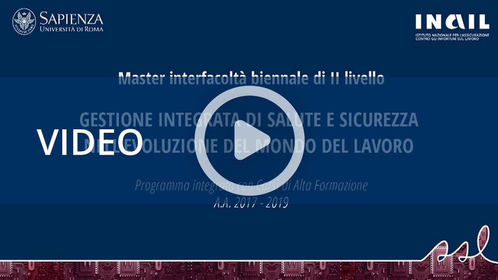 Master Sapienza-Inail: al via la seconda edizione