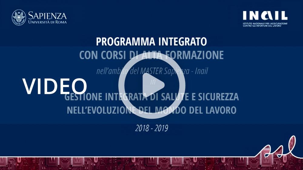 Master biennale di secondo livello Sapienza-Inail, al via i corsi di alta formazione