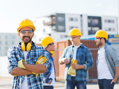 Immagine lavoratori cantiere
