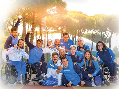 Immagine squadra europei scherma
