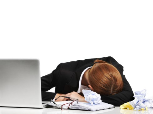 Immagine stress lavoro correlato donna