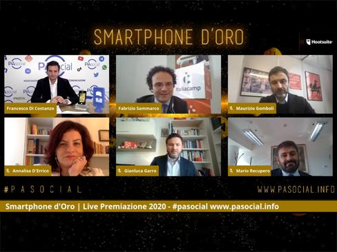 Smartphone d'Oro 2020, alla comunicazione Inail il premio tematico per il settore dei servizi  pubblici