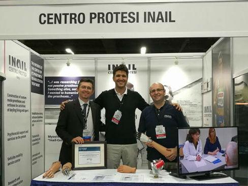 Lo stand del Centro Protesi Inail all'Aopa World Congress di Las Vegas