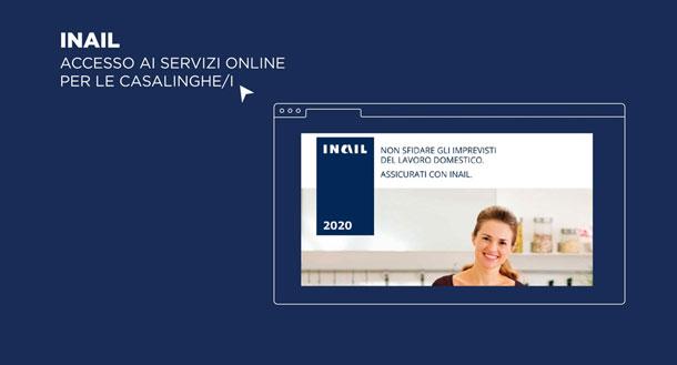 Tutorial - Assicurazione contro gli infortuni domestici - Accesso ai servizi online per le casalinghe/i