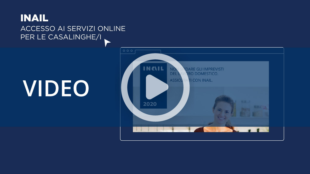 Accesso ai servizi online - Assicurazione contro gli infortuni domestici