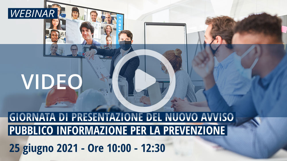 Avviso pubblico per il finanziamento delle attività di informazione per la prevenzione