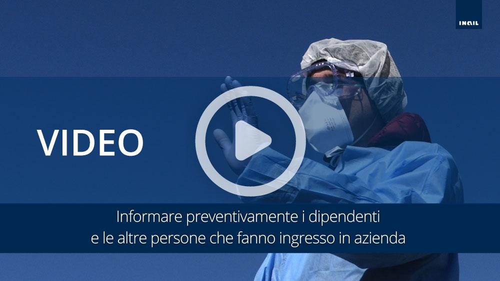 Video informativi sul protocollo per la salubrità degli ambienti di lavoro: ingresso in azienda e accesso fornitori esterni