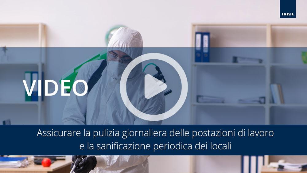 Video informativi sul protocollo per la salubrità degli ambienti di lavoro: igiene personale e pulizia in azienda