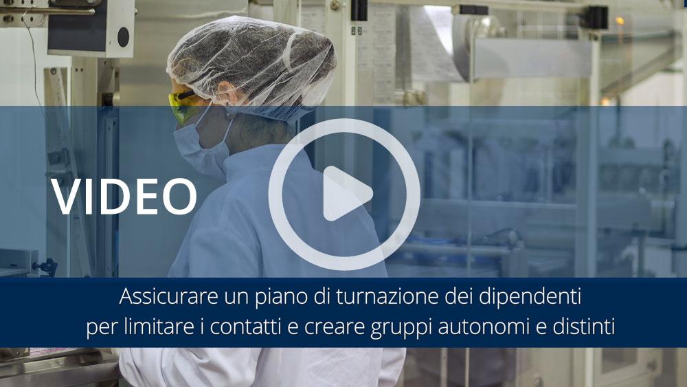 Video informativi sul protocollo per la salubrità degli ambienti di lavoro: organizzazione aziendale e gestione entrata e uscita dei dipendenti