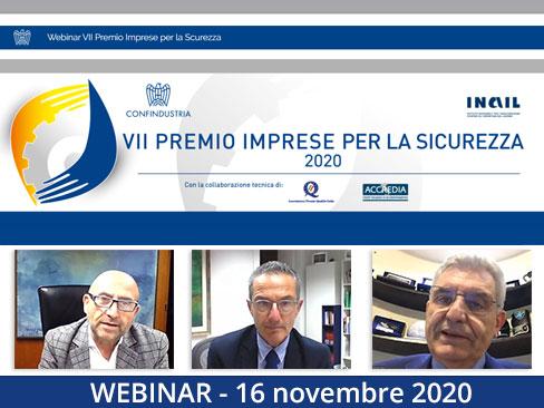 Webinar Premio Imprese per la sicurezza 2020