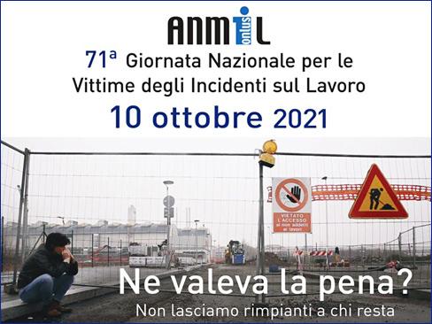 Locandina 71esima Giornata nazionale delle vittime incidenti sul lavoro