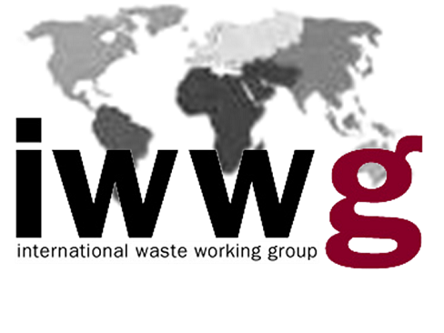 Logo Iwwg - Acronimo su cartina mondo