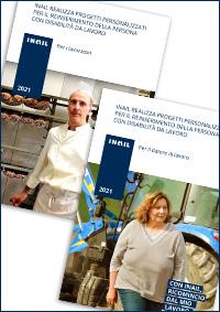 """I due opuscoli, realizzati in occasione della nuova campagna di comunicazione """"Con Inail, ricomincio dal mio lavoro, sul reinserimento lavorativo delle persone con disabilità da lavoro, contengono una sintesi delle misure di sostegno proposte dall'Istituto."""