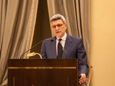 Il presidente dell'Inail, Massimo De Felice, nel corso della presentazione della Relazione annuale 2016 dell'Istituto