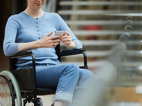 Immagine persona con disabilità