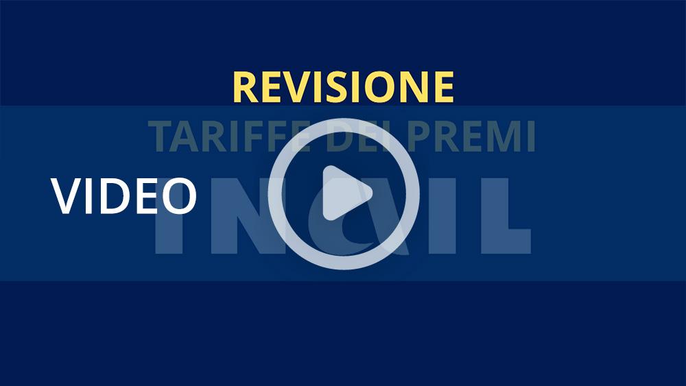 """Video informativo """"Revisione tariffe dei premi Inail"""""""