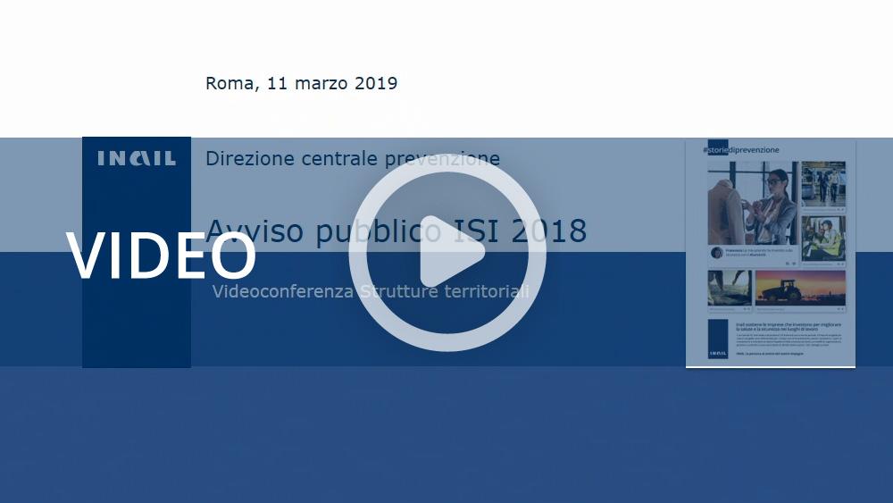Bando Isi 2018 - videoconferenza 11 marzo 2019
