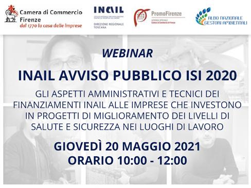 Immagine webinar Bando Isi 2020 Toscana